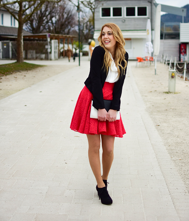 Red Lace Skirt1
