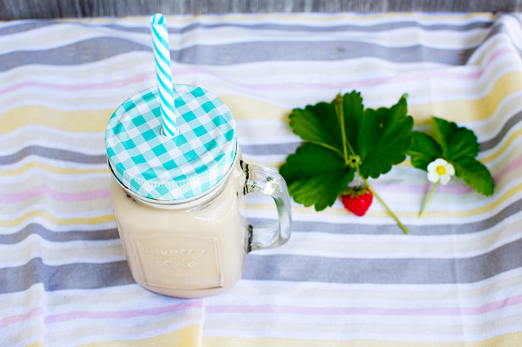 Erdbeer Eiskaffee