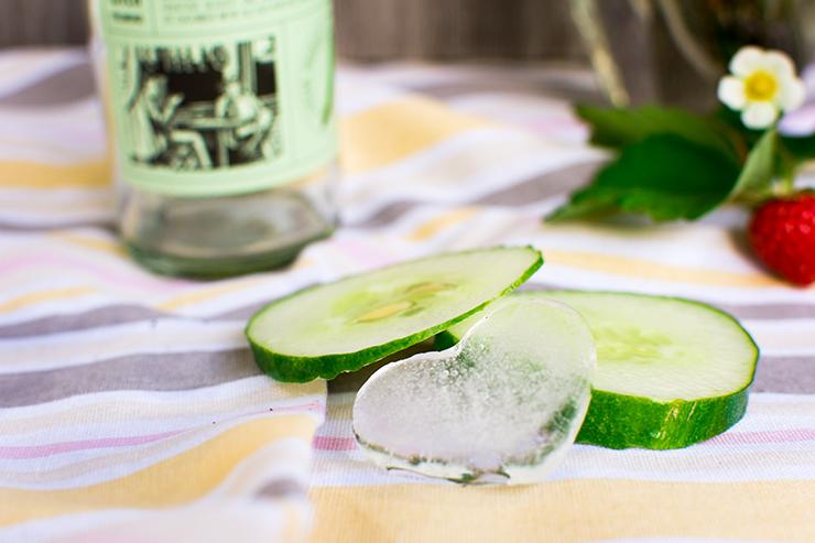 Erfrischende Drinks Gurke