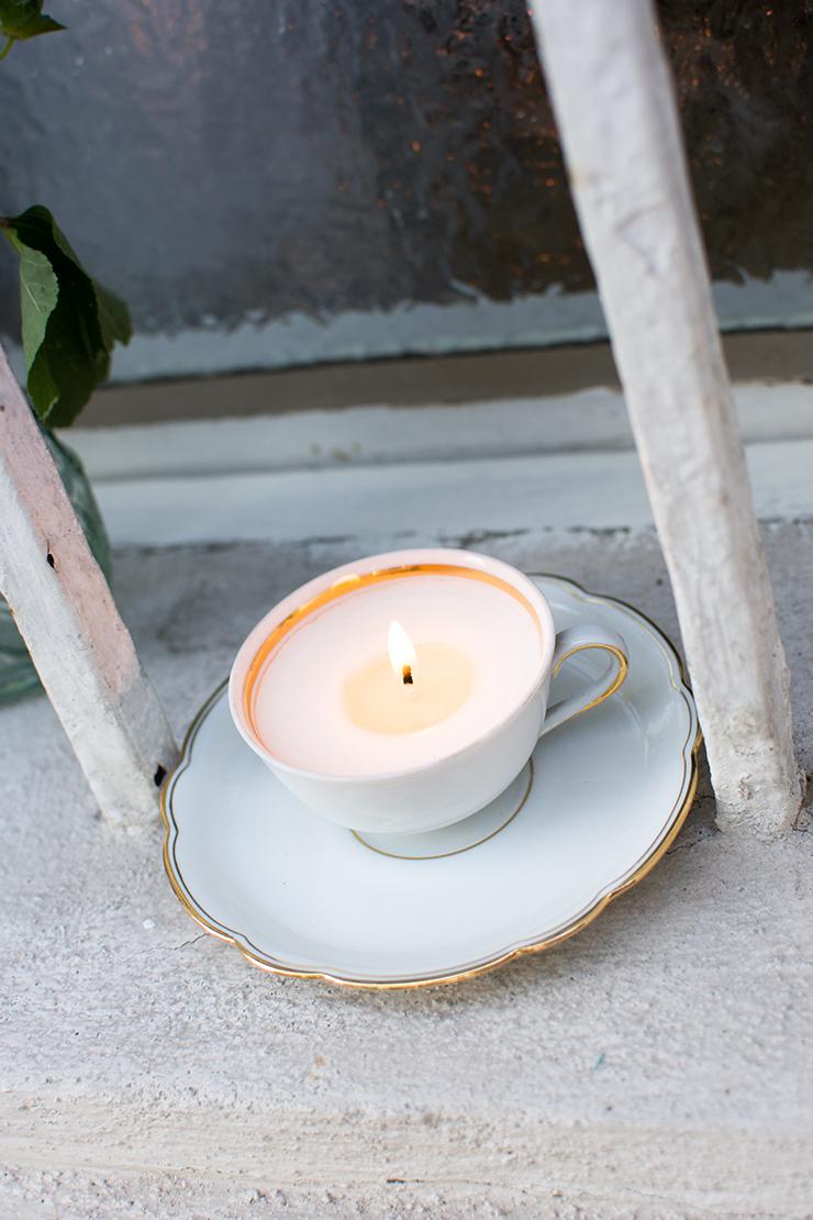 Blogger Dinner Omas Teekanne Kerze