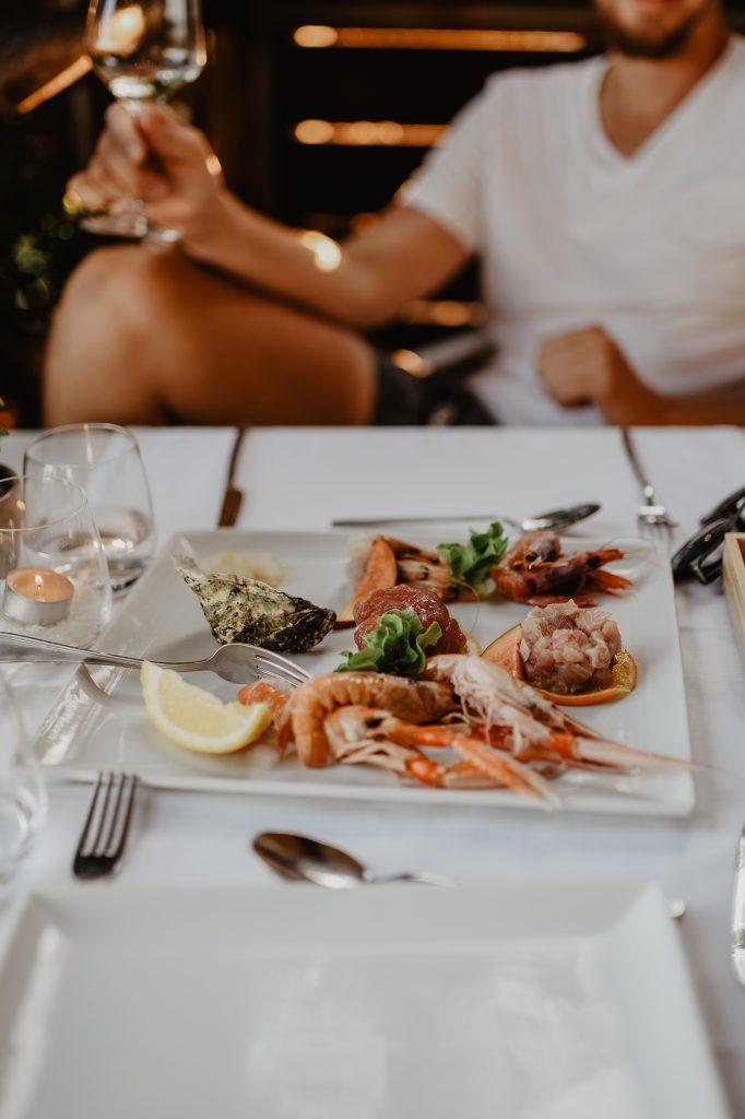 Fischplatte in der Toskana